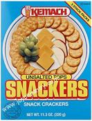 Kemach Snackers Unsalted Tops 10.3 oz