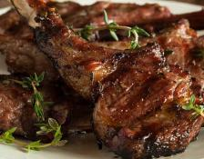 Grilled Lamb Chops with Mushrooms & Onions - Serves 10 People