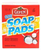 Gefen Steel Wool Soap Pads 10 ct