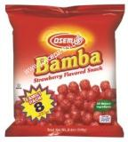 Osem Bamba Strawberry Flavored Snack Family Pack 8 - 1.05 oz