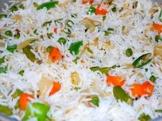 White Rice with Vegetables - Serves 12 People