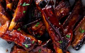 Lamb Ribs in Honey BBQ Sauce - Serves 10 People
